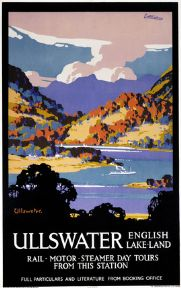 Ullswater, Lake District, Cumbria. Vintage LNER Travel poster by John Littlejohns